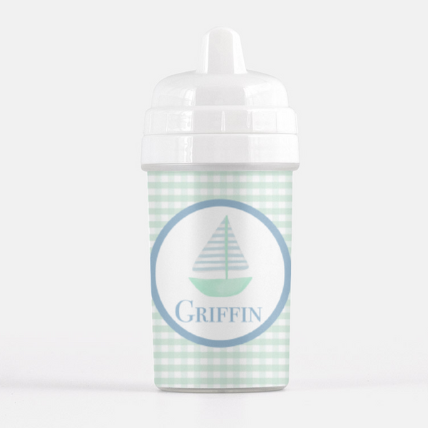 Gingham Sailboat Sippy Cup