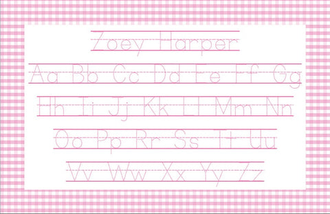 Personalized ABCs & 123s Reversible Placemat