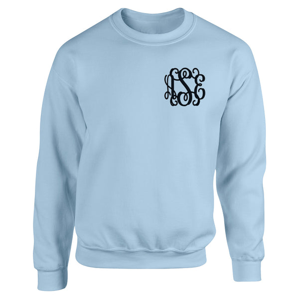 Pullover with Small Monogram