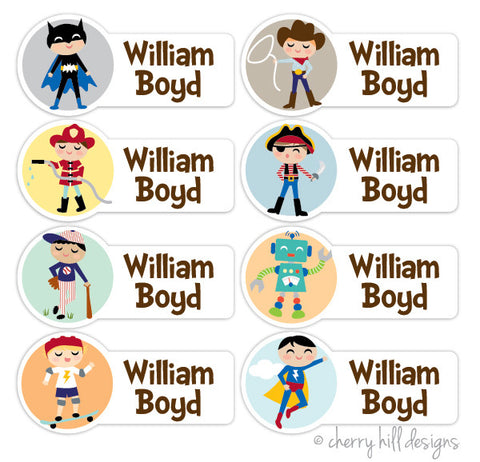 Boy Character Labels