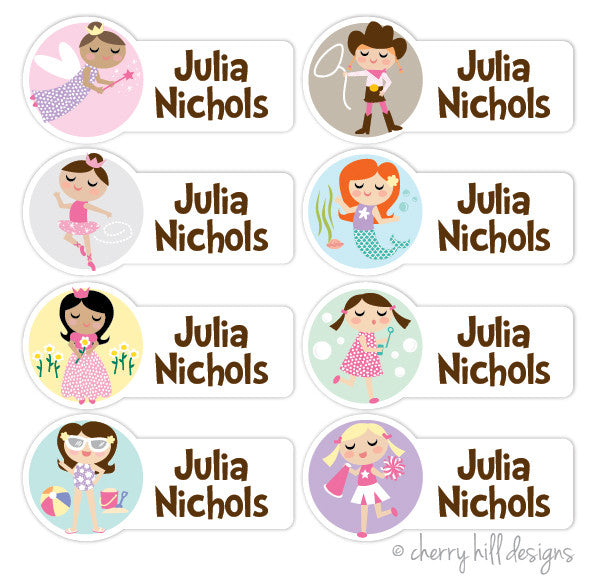Girl Character Labels