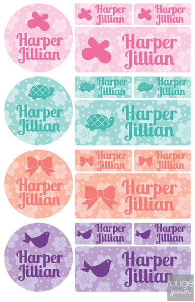 Flowers Waterproof Label Combo Set
