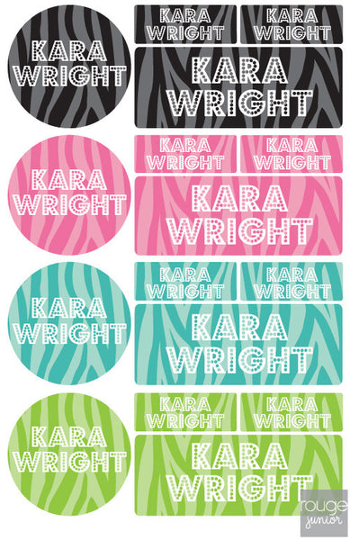 Zebra Waterproof Label Combo Set