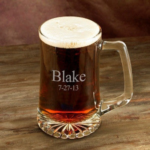 25oz Personalized Beer Mug
