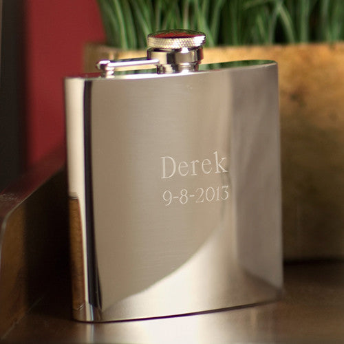 Stainless Steel High Polish 7 oz. Flask