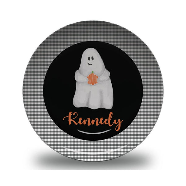 Children's Personalized Halloween Ghost Plate