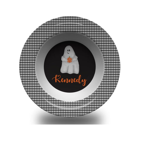 Children's Personalized Halloween Ghost Bowl