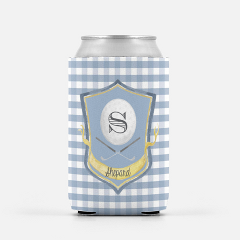 Gingham Golf Can Cooler