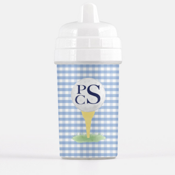 Gingham Golf Sippy Cup