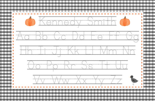 Personalized Halloween Reversible Placemat
