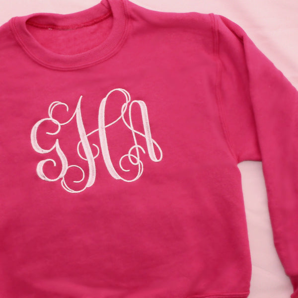 Kids Pullover with Large Monogram