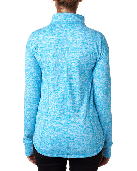 Electric Blue Monogrammed Fleece Pullover