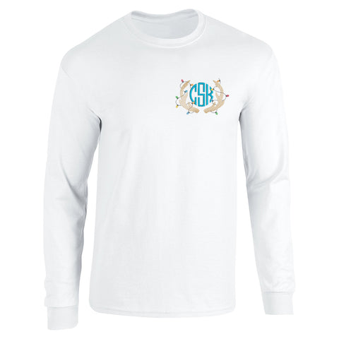 Christmas Embroidered Long Sleeve Shirt