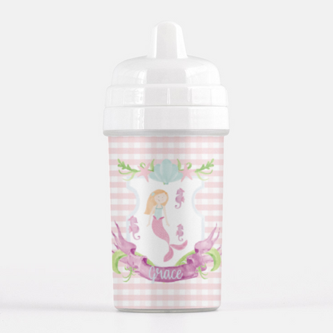 Gingham Mermaid Sippy Cup