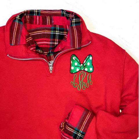 Bow Monogrammed Pullover