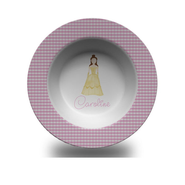 Girls Personalized Princess Bowl