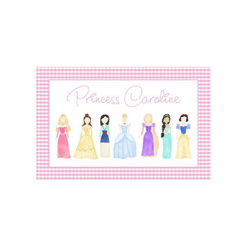 Personalized Princess Reversible Placemat