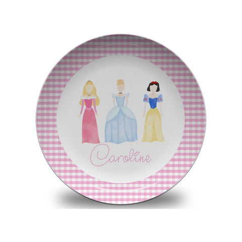 Girls Personalized Princess Plate