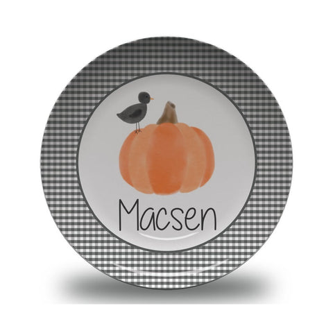 Children's Personalized Thanksgiving Pumpkin Plate