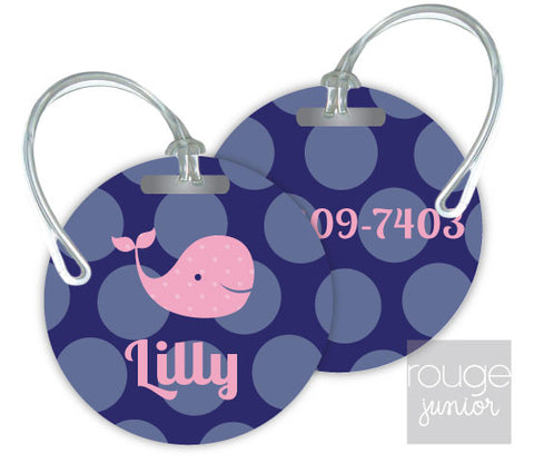 Design Your Own Luggage Tag Bubble Dot