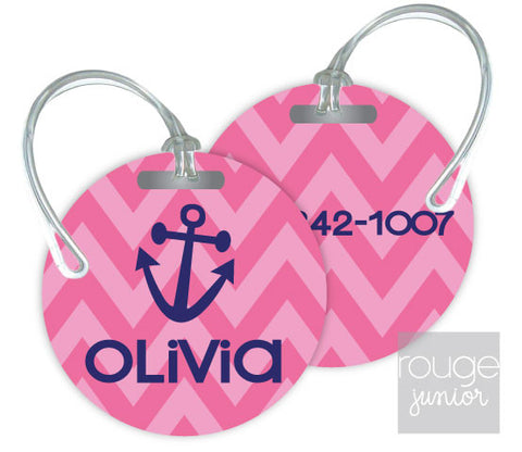 Design Your Own Luggage Tag Chevron