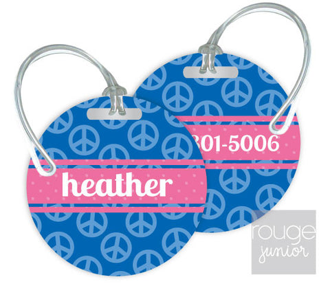 Design Your Own Luggage Tag Peace