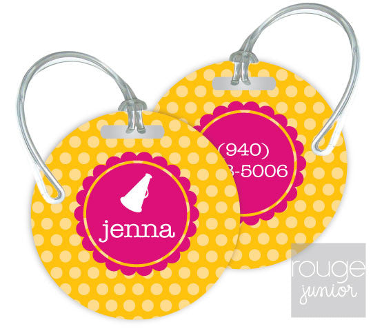 Design Your Own Luggage Tag Polka Dot