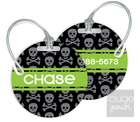 Design Your Own Luggage Tag Skulls