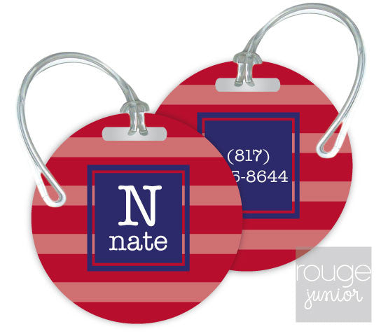 Design Your Own Luggage Tag Stripes