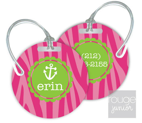 Design Your Own Luggage Tag Zebra