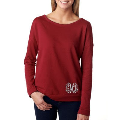 Scarlet French Terry Raglan