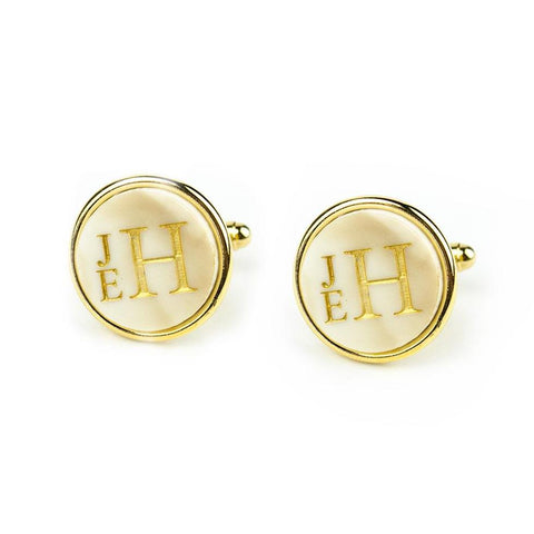 Stacked Monogram Cufflinks