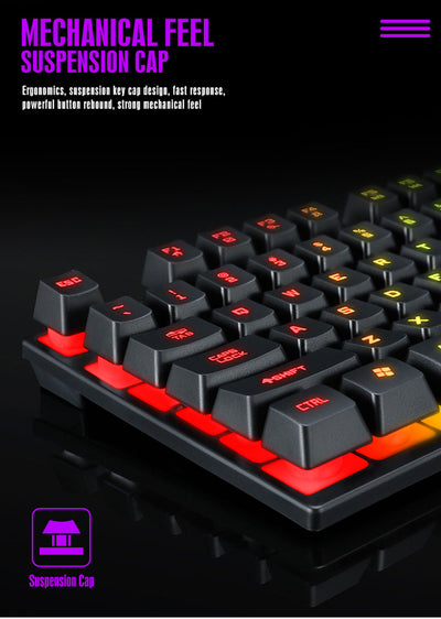 Gaming Keyboard And Mouse Wired With Backlight Waterproof  For PC Laptop Computer