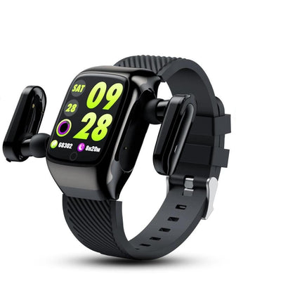 Smart Watch  2 in 1 With Bluetooth Earphones Music Sports for Android iOS