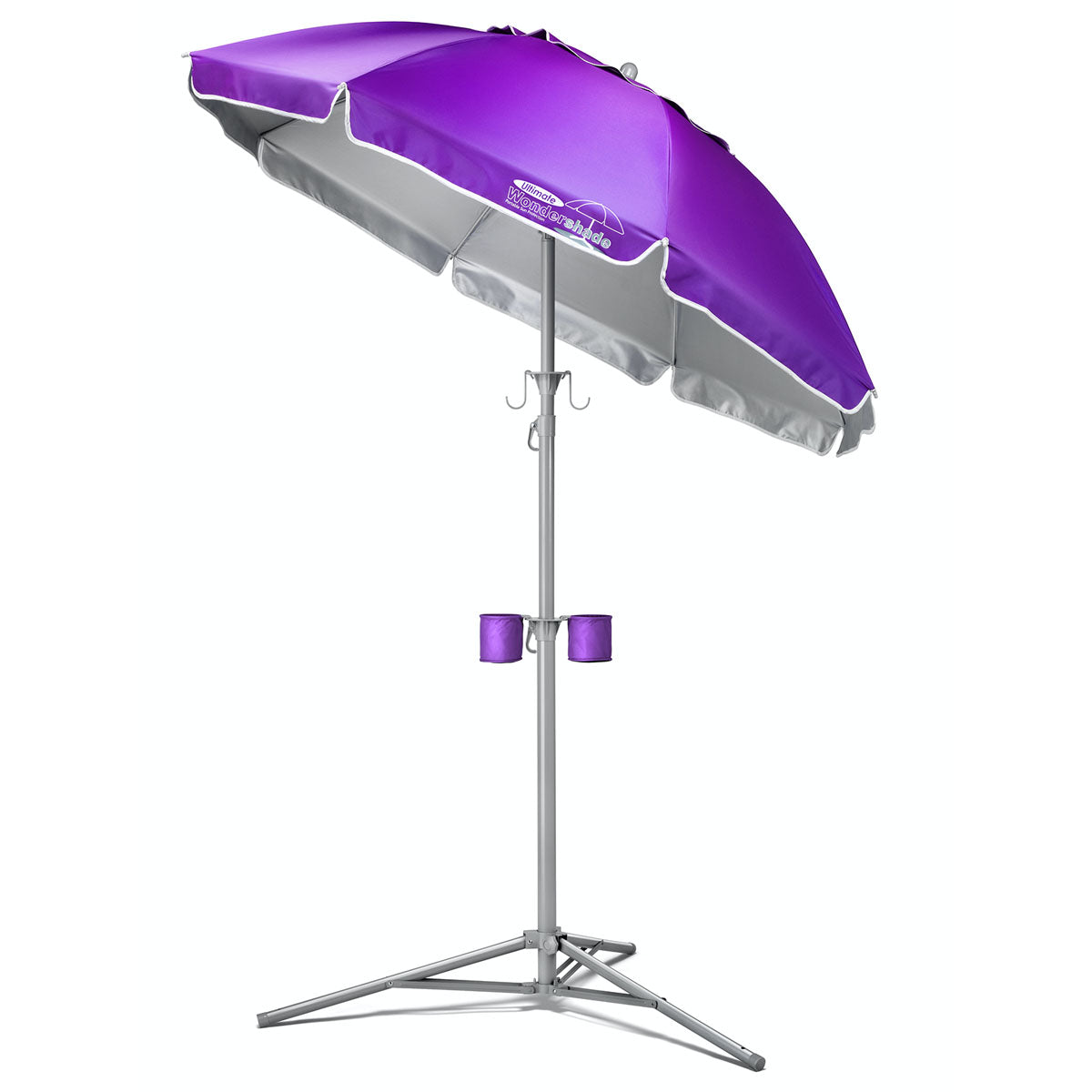 Wondershade Ultimate Portable Sun Shade Umbrella, Lightweight Adjustable Instant Sun Protection - Purple