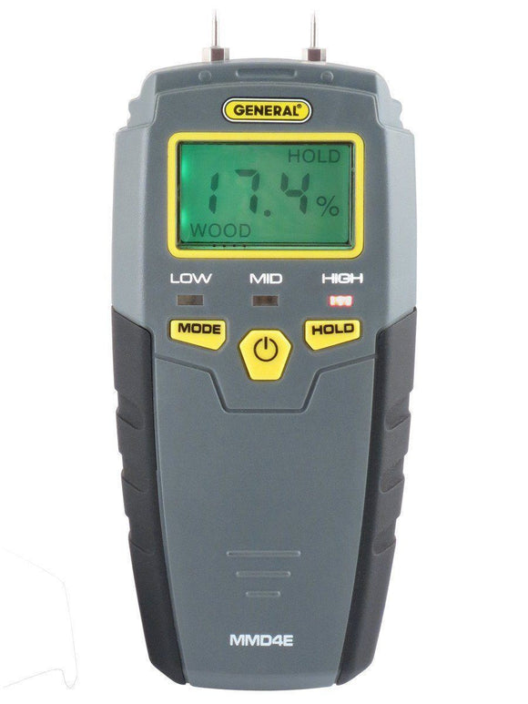 MMD4E Digital/LED Compact Pin-Type Moisture Meter | General Tools | SKU MMD4E | Moisture Meters