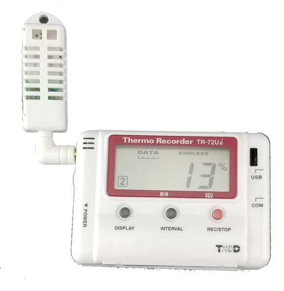 TR-72Ui USB Connected Temperature & Humidity Data Logger with IR Connectivity - Tech Instrumentation - TandD