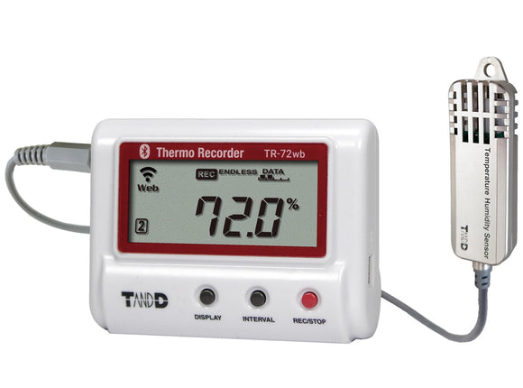 TR-72wb-S BlueTooth & Wi-Fi Data Logger with High Precision Accuracy - Tech Instrumentation - TandD