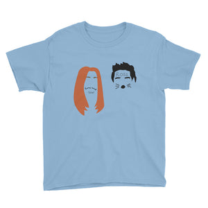Ross and Rachel Las Vegas Minimalist Faces Youth Short Sleeve T-Shirt