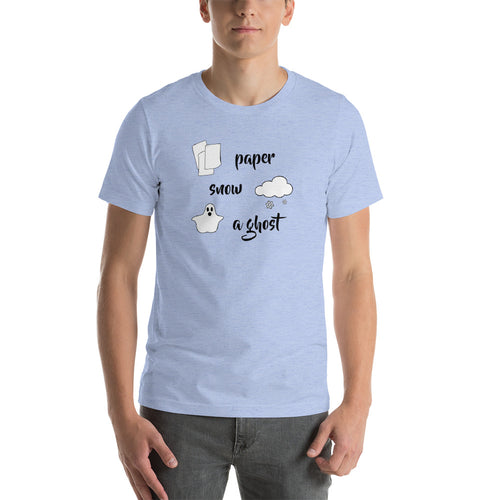 Paper, Snow, A Ghost Short-Sleeve Unisex T-Shirt