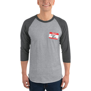 Crap Bag Name Tag Side 3/4 sleeve raglan shirt