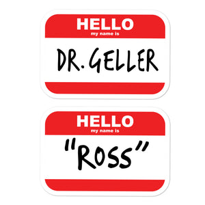 Ross's Name Tags Bubble-free stickers