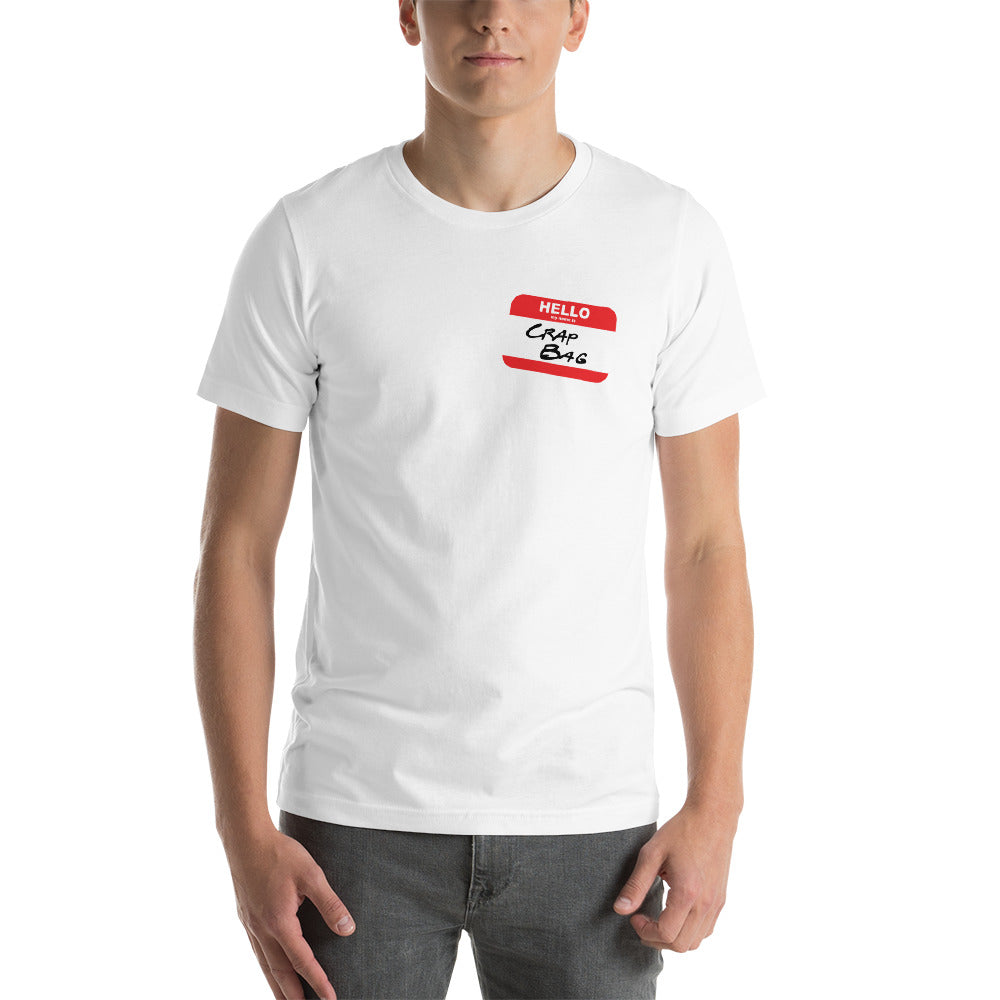 Crap Bag Name Tag Side Short-Sleeve Men's T-Shirt