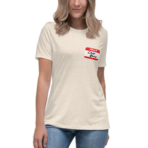 Crap Bag Name Tag Side Women's Relaxed T-Shirt