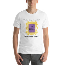 Load image into Gallery viewer, Welcome to the Real World + Door Frame Short-Sleeve Unisex T-Shirt