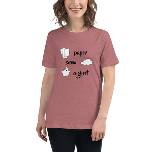 Paper Snow A Ghost! Women's Relaxed T-Shirt