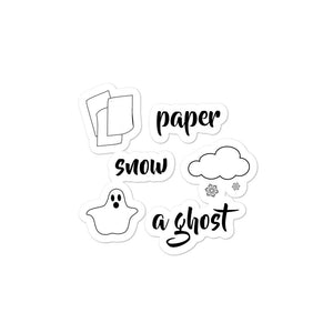 Paper Snow A Ghost! Bubble-free stickers