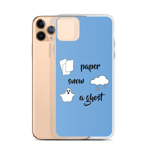Paper Snow A Ghost! iPhone Case