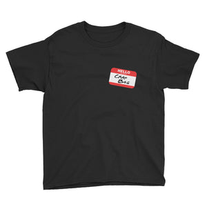 Crap Bag Name Tag Side Youth Short Sleeve T-Shirt