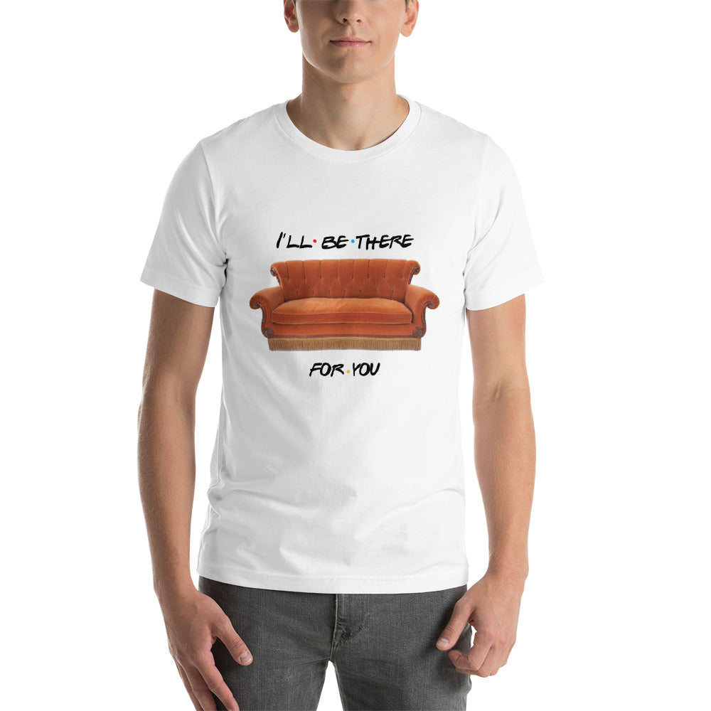 I'll Be There For You & Central Perk Couch Short-Sleeve Unisex T-Shirt